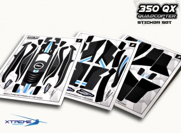 Upgrade Blade 350 QX / QX2 - Xtreme Pre Cut Body Sticker Set Black 350QX04-K