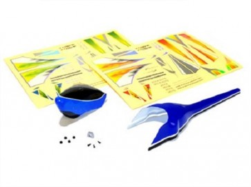 Xtreme Trex 150 Fuselage Set (Blue) AT15013B