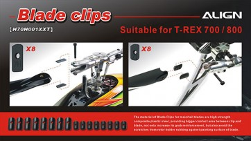 Align Trex 550 600 700 800 Tail Blade Clips H70T004XXW