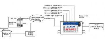 Align 6A External BEC w/ 5.1V Two-way Step-down voltage regulato K10382A