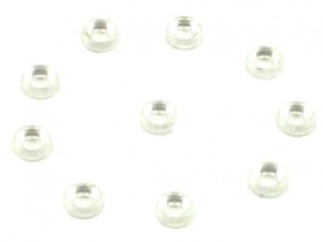 RJX Metal Finish cap for 2.5mm Screw 10pcs Silver EDN-1244SLV