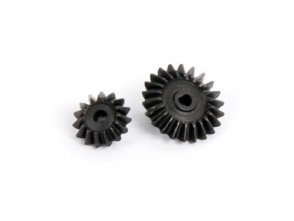 Xtreme Blade 130X Hardened Steel Bevel Gear Tail Gear C & D Set B130X22-CD