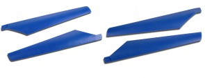Xtreme Upper Lower Hard Blade Set BLUE Esky Lama V3 V4 & Eflite Blade CX2 CX3