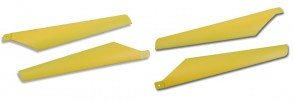 Xtreme Upper Lower Hard Blade Set YELLOW Esky Lama V3 V4 & Eflite Blade CX2 CX3