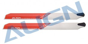 Align Trex 450 size PRO Rotor Blade RED / White 325mm HS1158-01 HD322A
