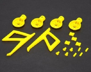 Xtreme Blade 200QX Motor Mounts and Parts set (Yellow) MR200P06-Y