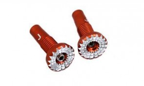 RJX Aluminum Control Stick for JR RED 2pcs NOT Compatible w All Spektrum Tx's EDN-1166JR-RED