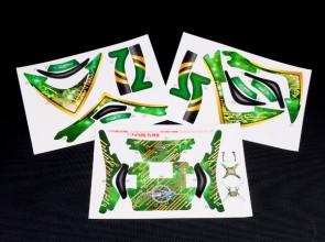 XTREME Pre-Cut Body Skin Decal Sticker Set GREEN FOR DJI PHANTOM 2 / 2 VISION